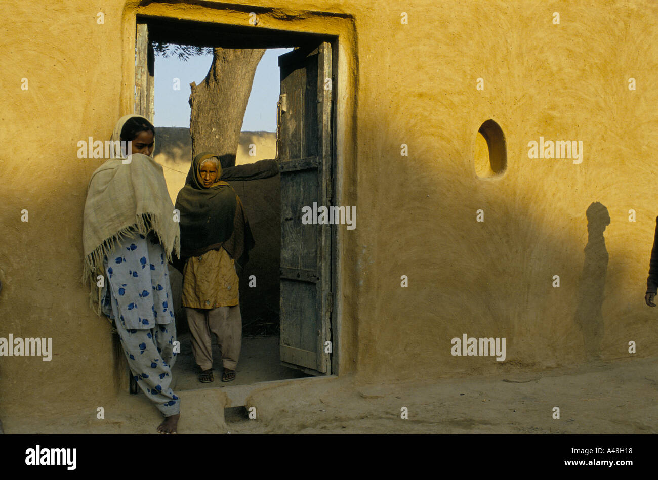 moslem women in a village near Alligarh north india - Stock Image