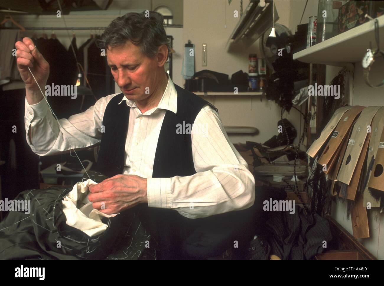 Saville Row Tailor - Stock Image