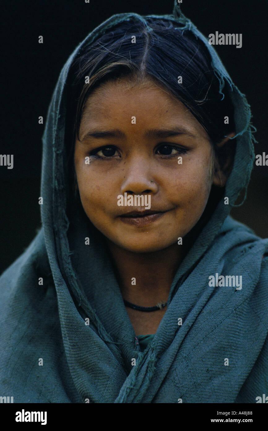 An untouchable child in a village near delhi - Stock Image