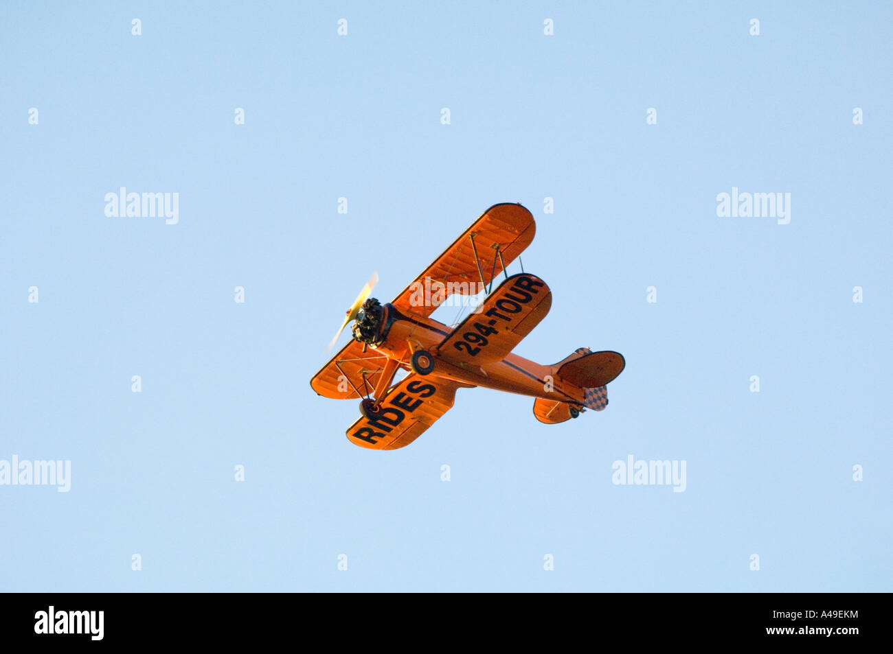 USA Florida Keys SightSeeing flight in Bi- Plane over Key West - Stock Image