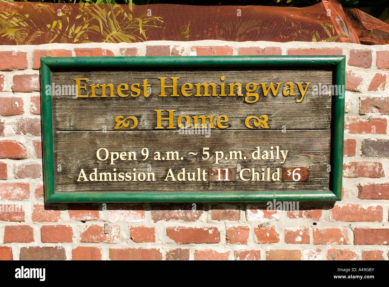 USA Florida Keys Ernest Hemingway Home Historic site Key West Stock Photo