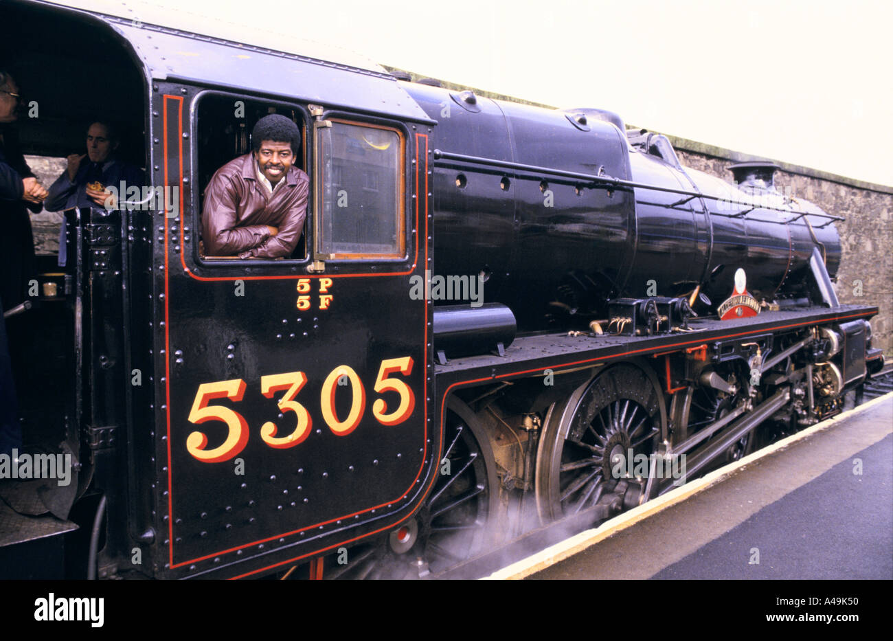 time correspondent steven holmes on the royal scotsman 1986 - Stock Image