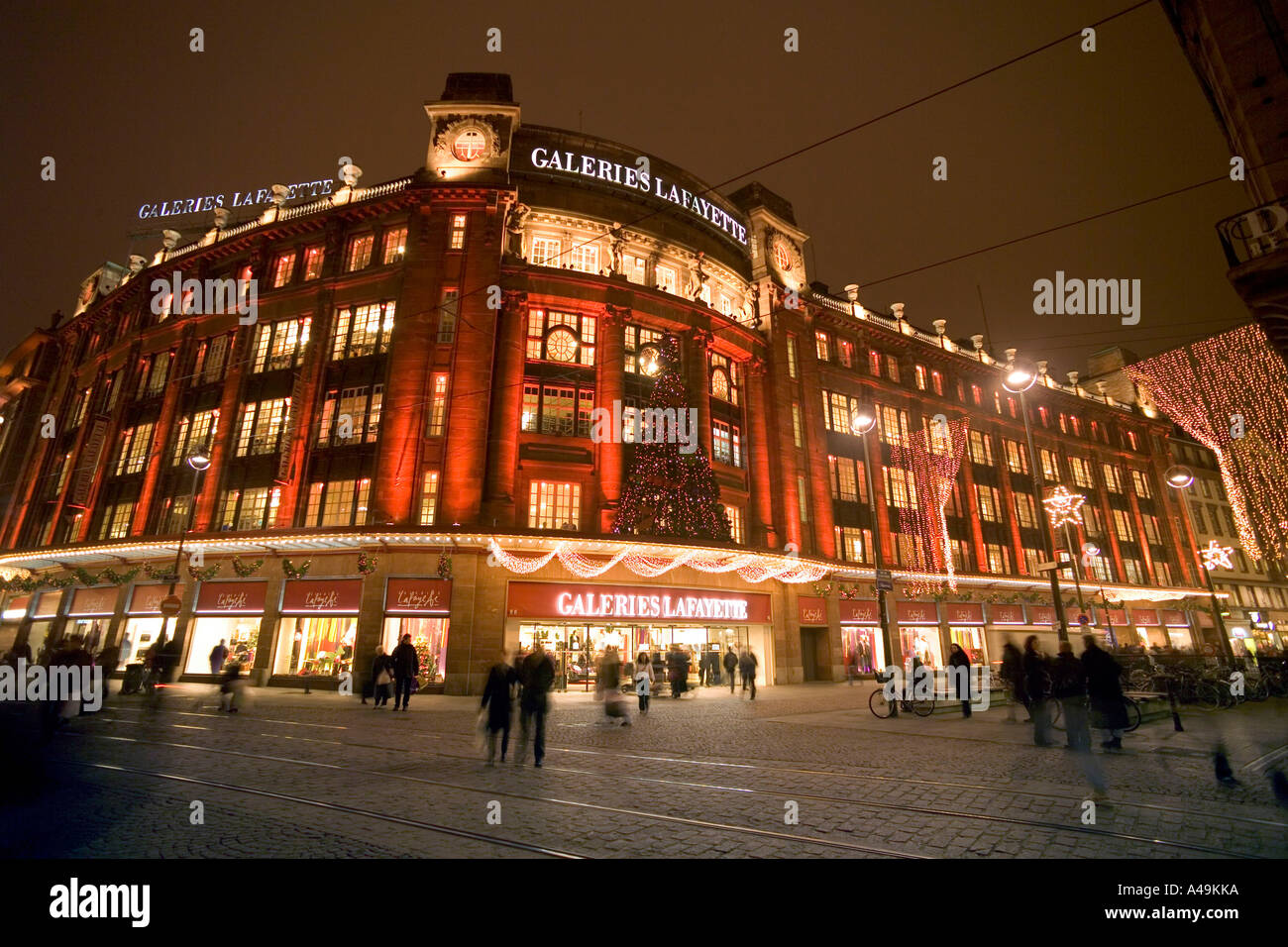 Galeries Lafayette / Strasbourg Stock Photo - Alamy