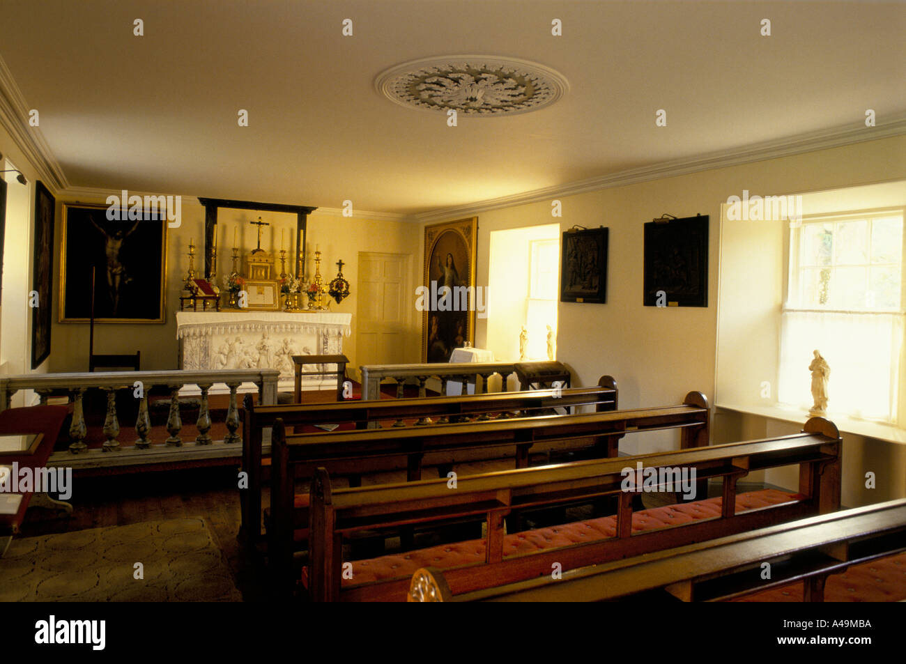 private chapel at traquair house stately home nr peebles Stock Photo ...