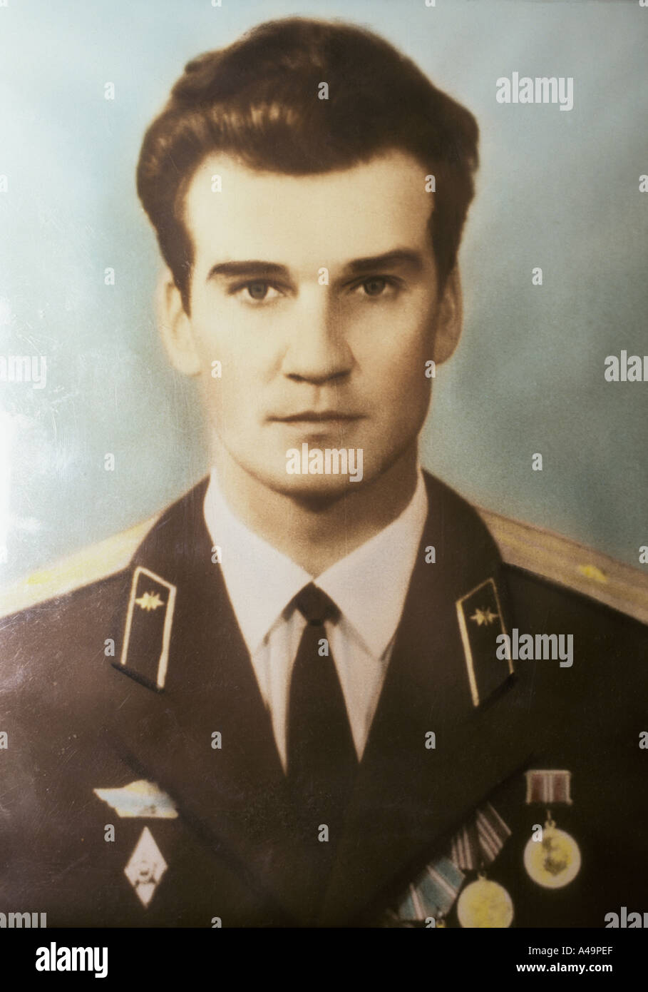 man who saved the earth stanislav petrov former soviet military prevented potential nuclear launch early photograph 1999 - Stock Image
