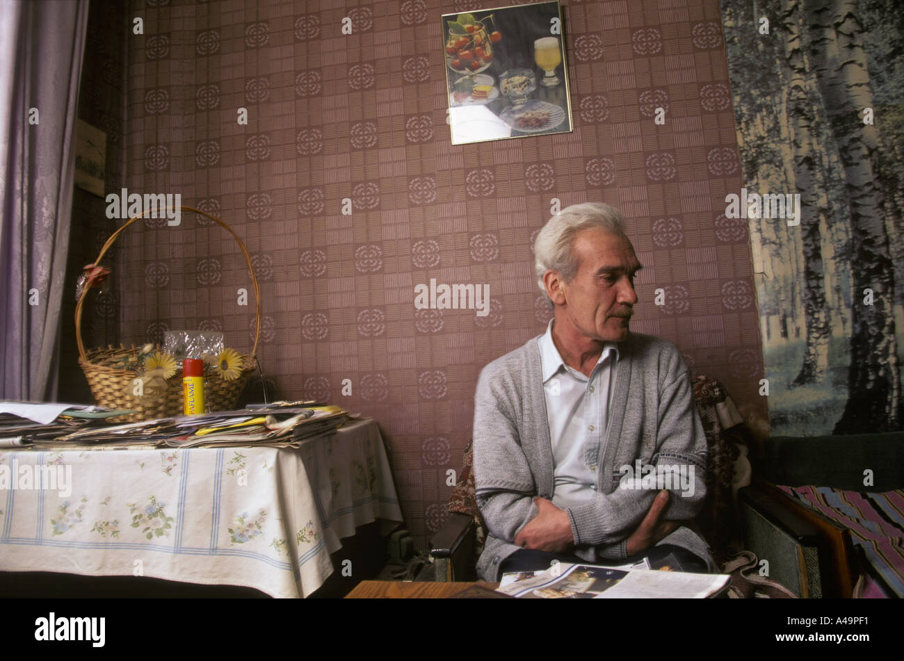 man who saved the earth stanislav petrov former soviet military prevented potential nuclear launch in his apartment - Stock Image
