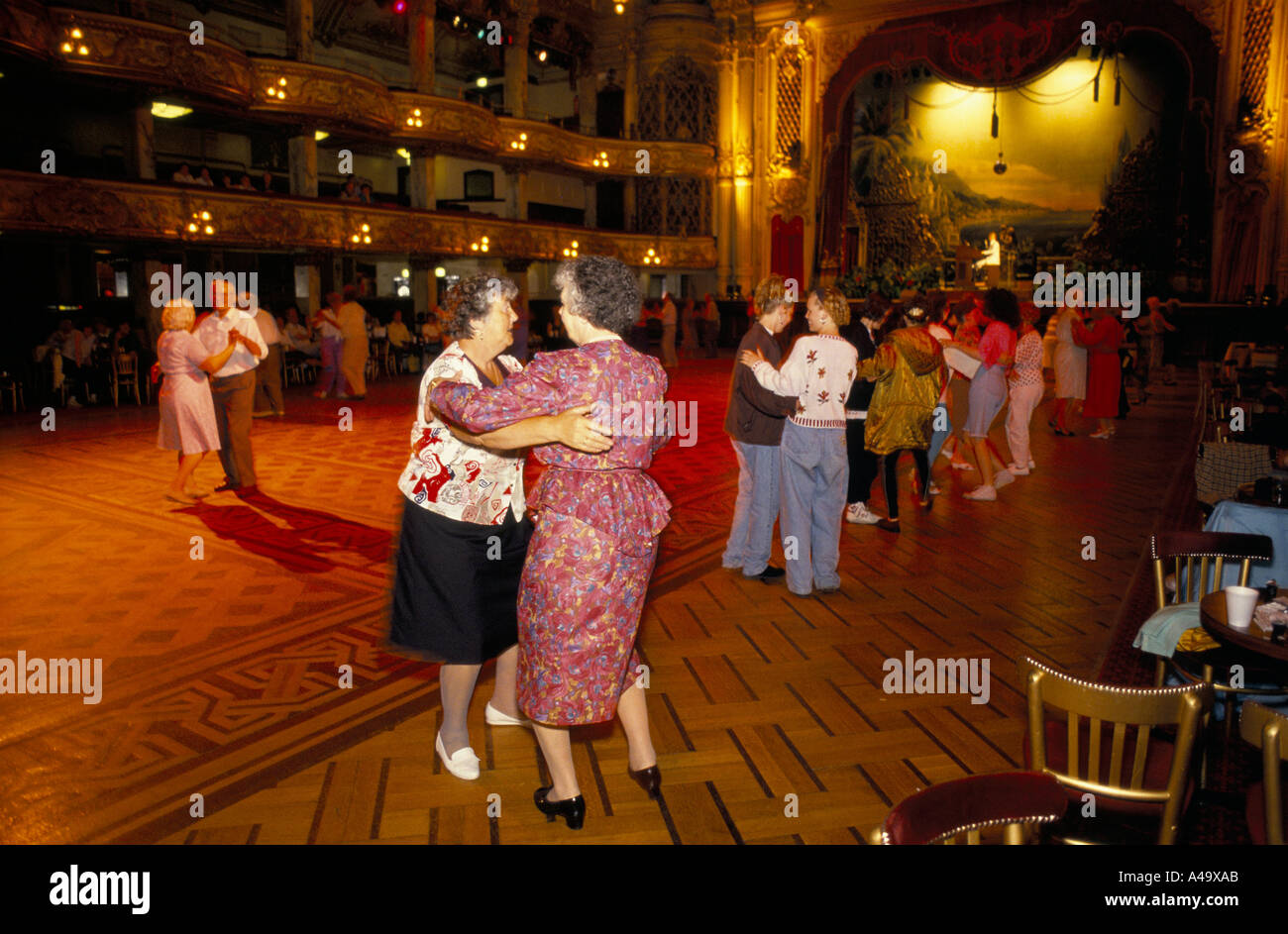 blackpool tower ballroom dancing starts at 10am - Stock Image