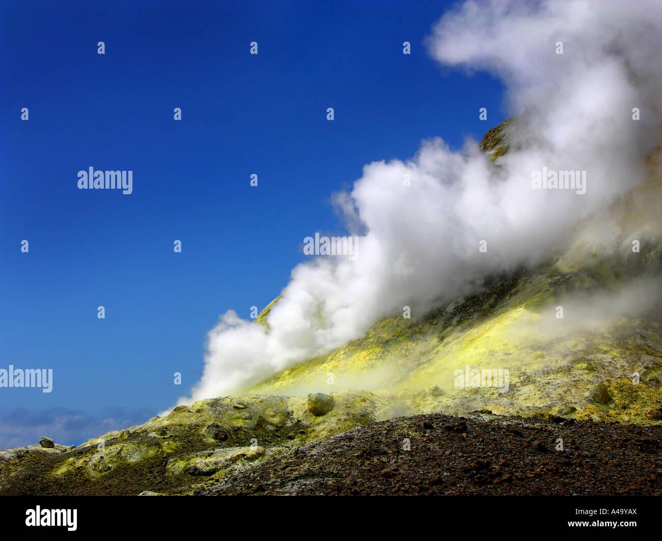 fumarole on White Island, New Zealand, White Island, Abel Tasman National Park Stock Photo