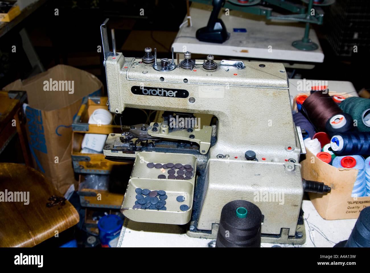 Electronic Direct Drive Lockstitch Button Sewer - Stock Image