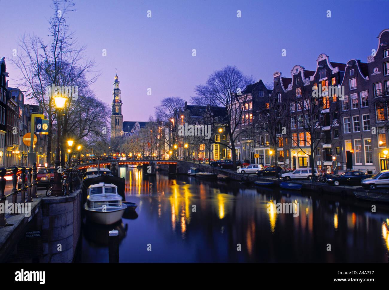 Prinsengracht, Amsterdam, Holland - Stock Image