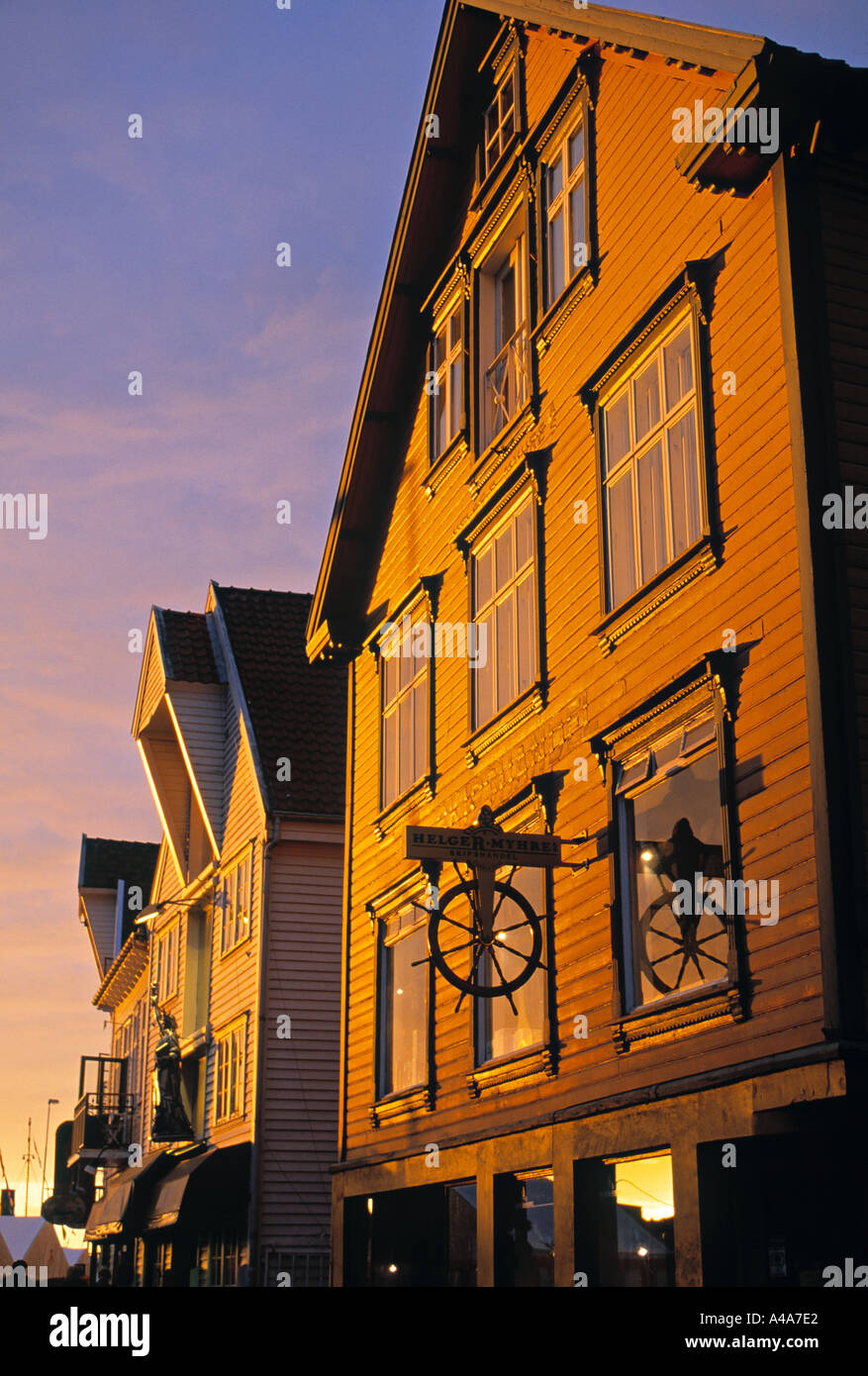 Harbour front warehouse,  Alesund, Norway - Stock Image