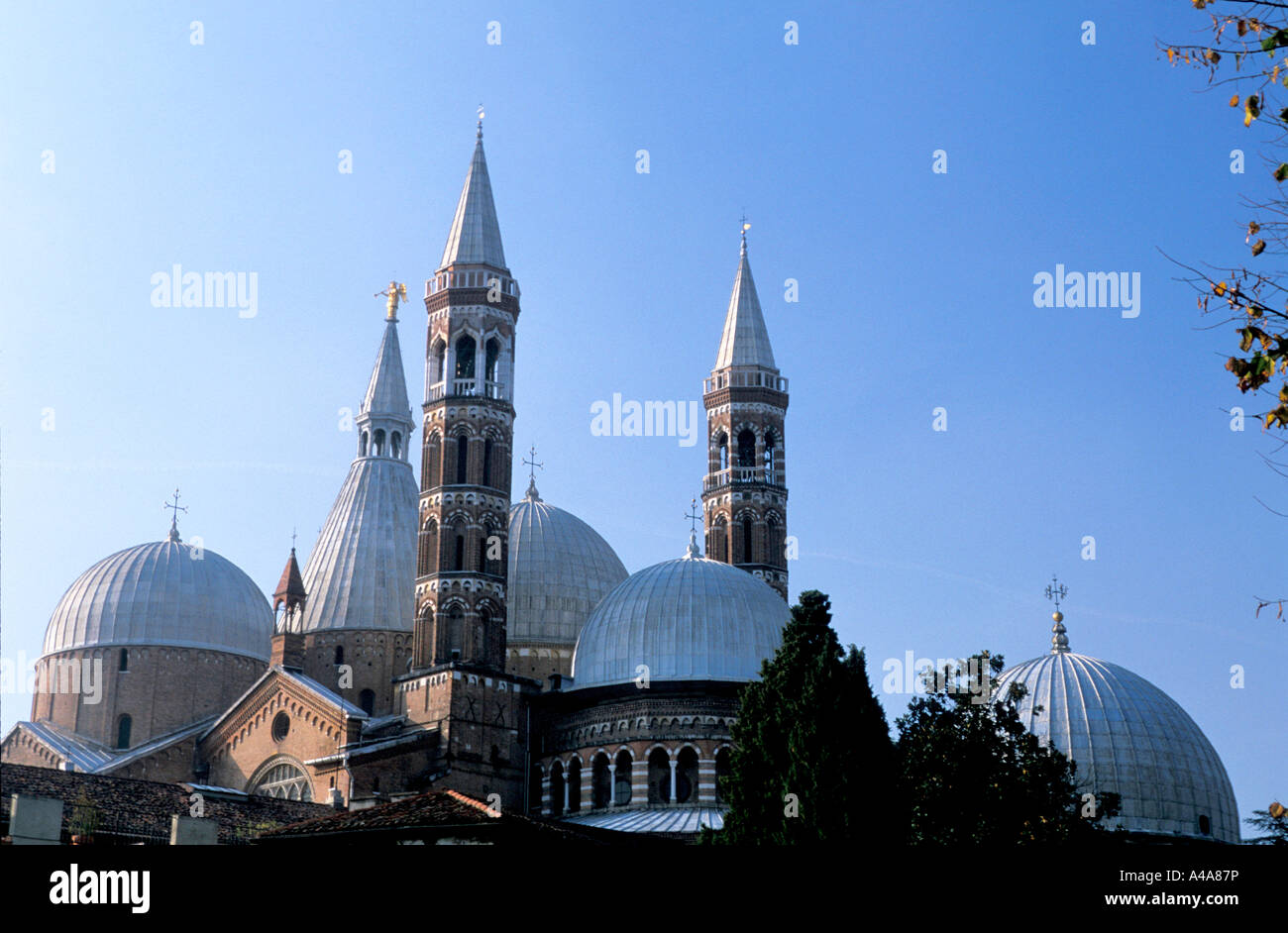 The cupolas of Basilica del Santo Padua Veneto Italy - Stock Image