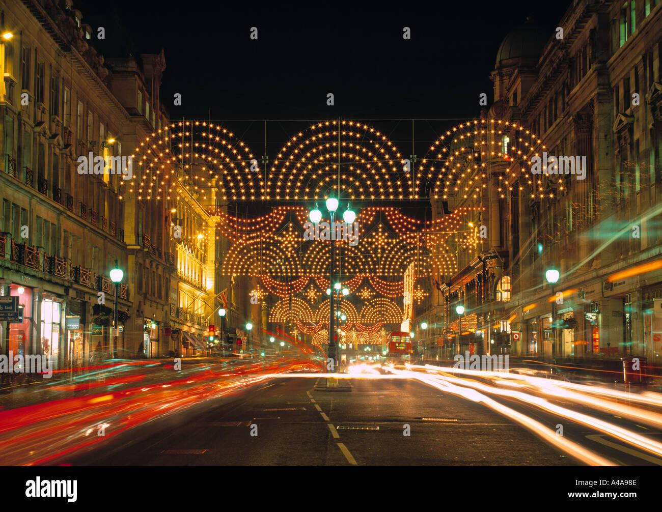 Regents Street at Christmas, London, England Stock Photo