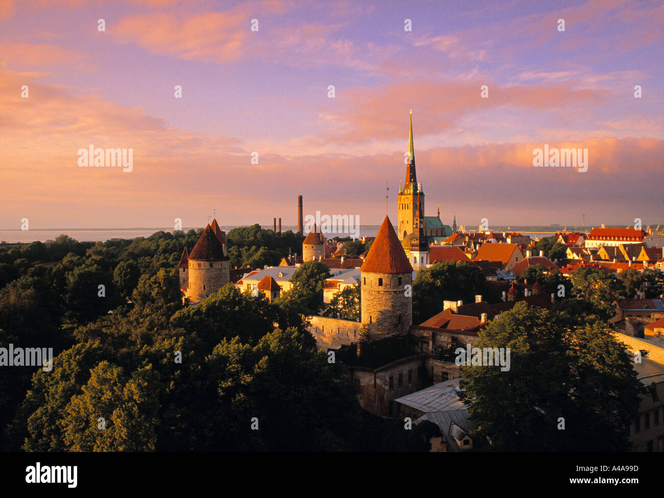 Old Town from Toompea, Tallinn, Estonia - Stock Image