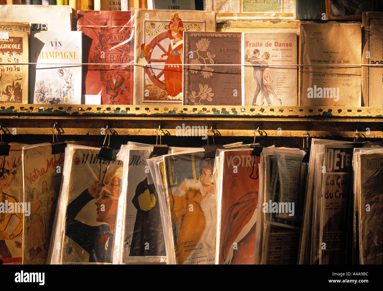 Bookstalls on the Left Bank, Paris, France - Stock Image