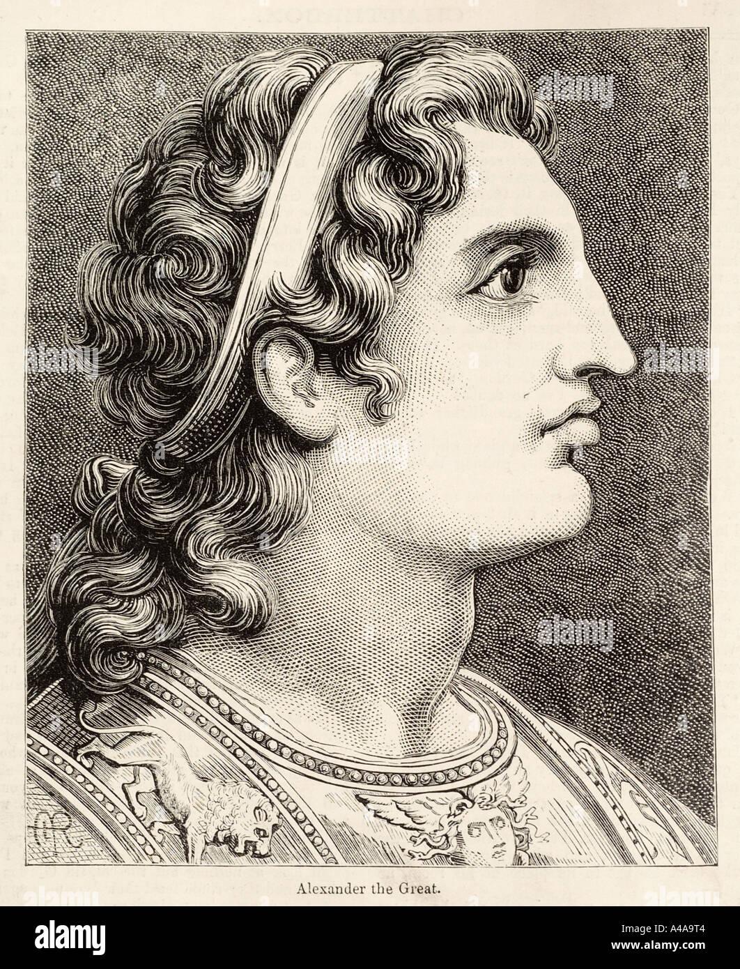 Alexander great 356 323 macedon portrait profile king emperor royal male