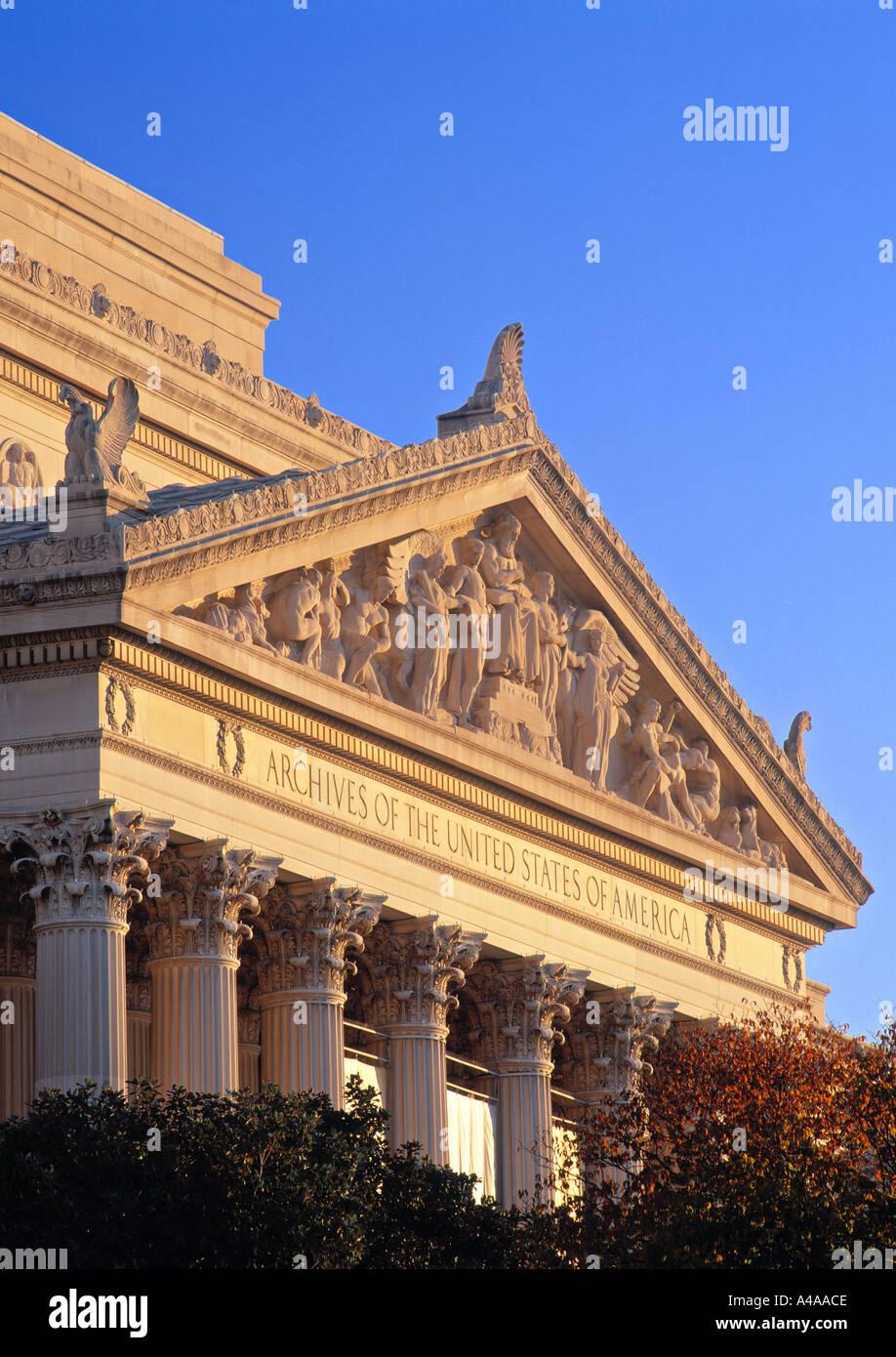 National Archives, Washington D.C., USA - Stock Image