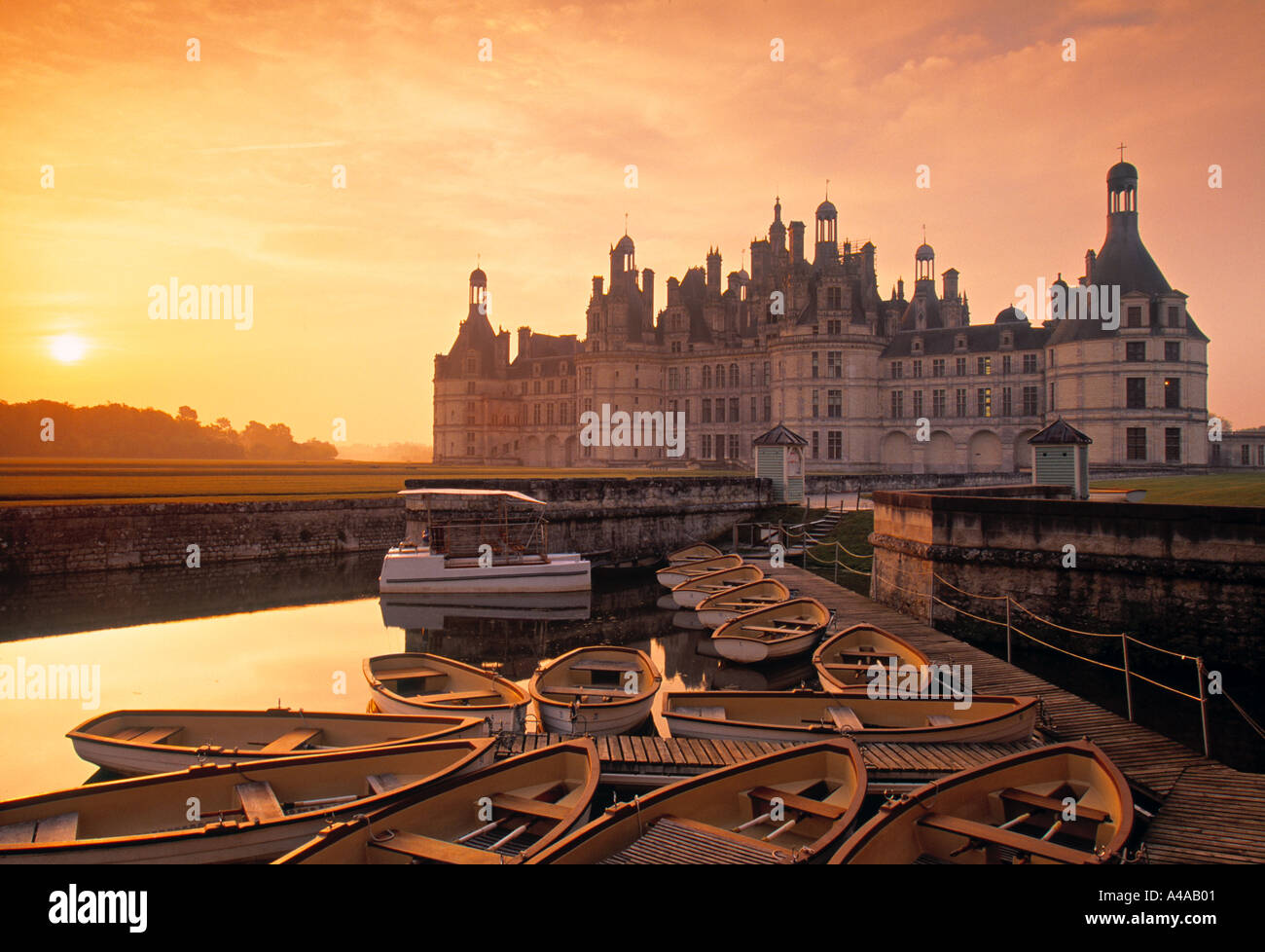 Chateau de Chambord, Loire Valley, France - Stock Image