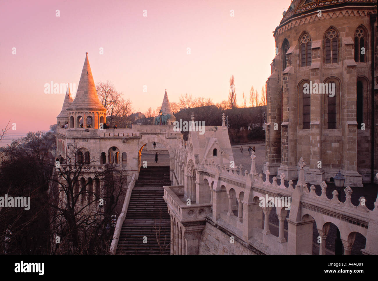 Fishermens' Bastion, Budapest, Hungary - Stock Image
