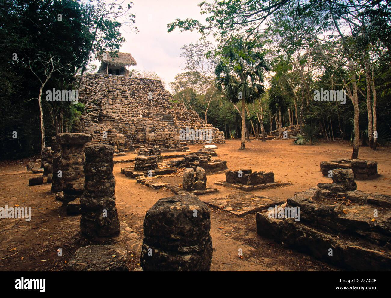 Mayan Ruins, Coba, Mexico - Stock Image