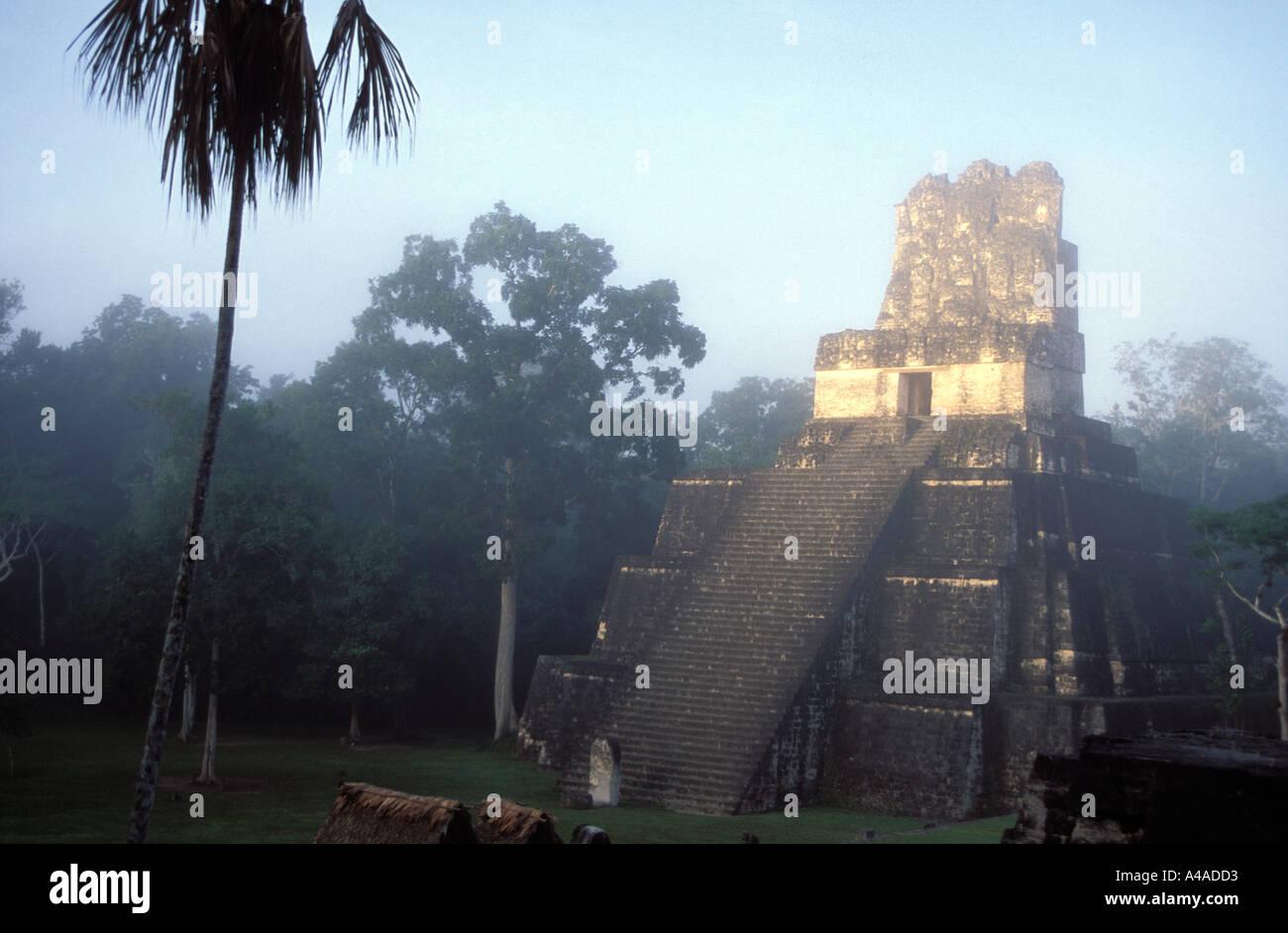 Mayan temple at Tikal Guatemala - Stock Image