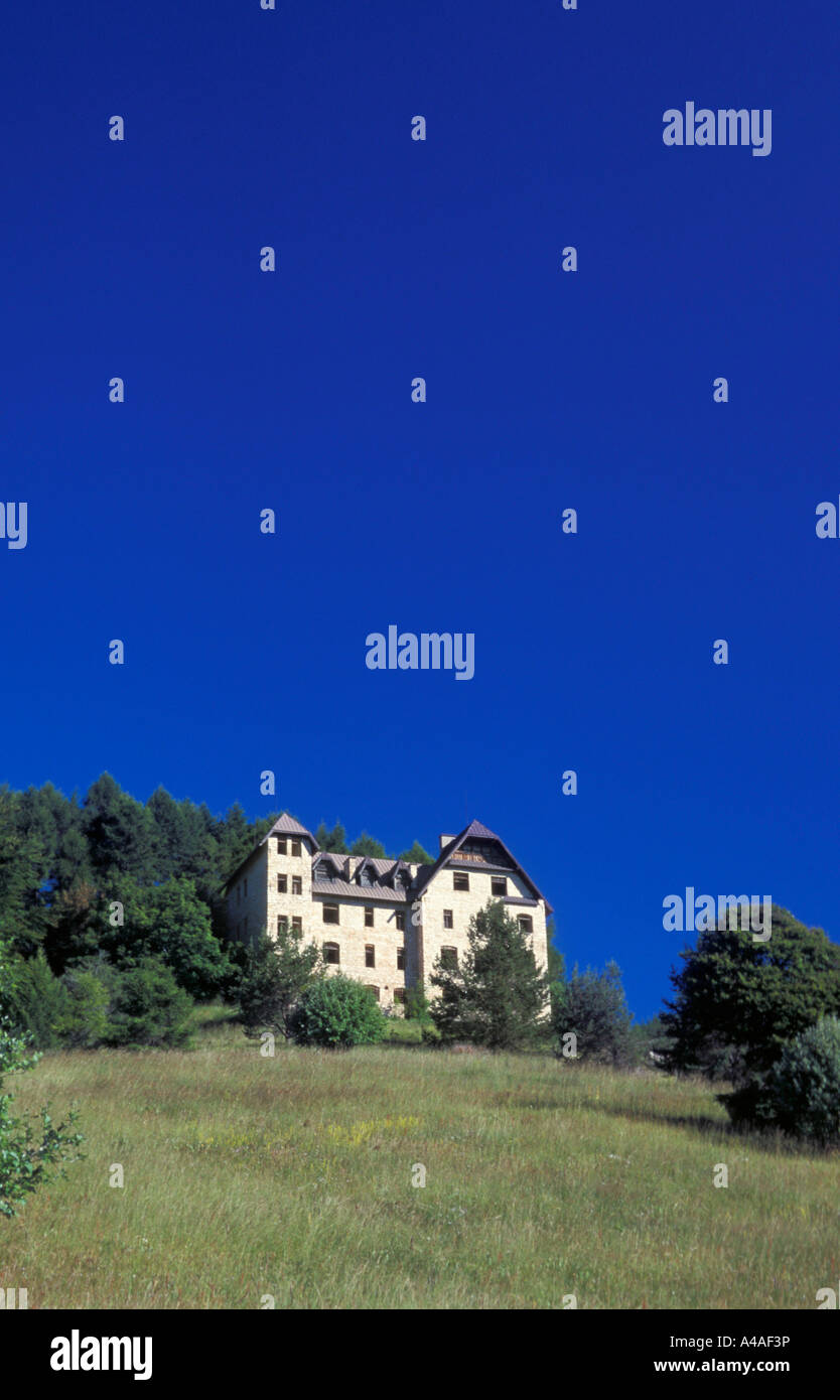 Austro Hungarian barracks Bondone mountain Trentino Alto Adige Italy - Stock Image