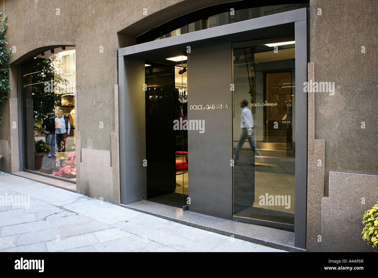 Dolce e Gabbana shop Via della Spiga Milan Lombardy Italy Stock ... 7eaea6f86fcbd