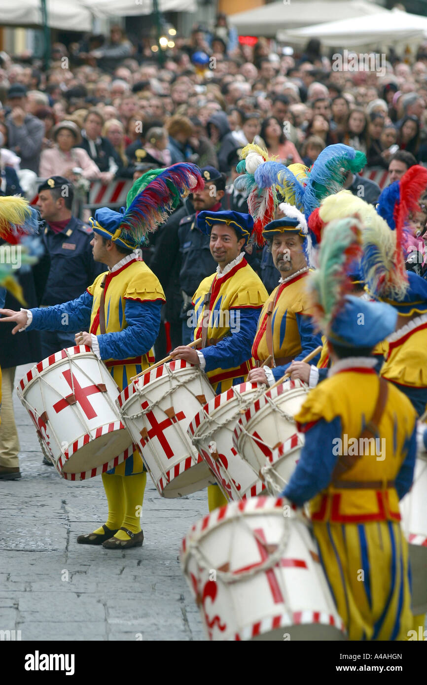 Figurantes during the Florence s Historic Football Match Florence Tuscany Italy Stock Photo