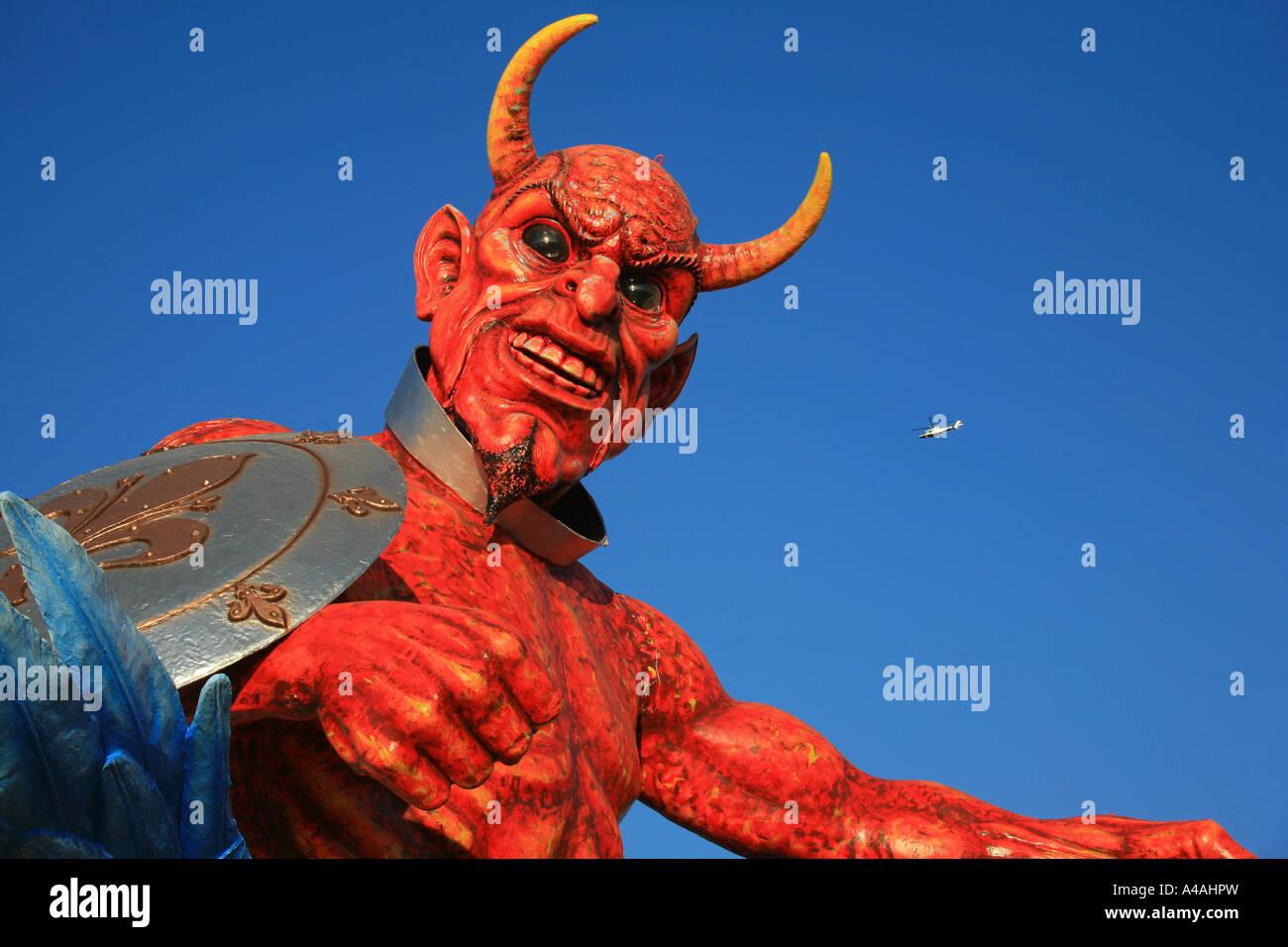 Devil mask Carnival 2007 Viareggio Tuscany Italy - Stock Image