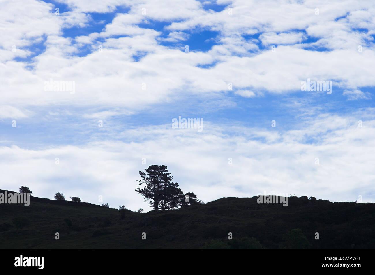 skyline silhouette Welsh mountain - Stock Image