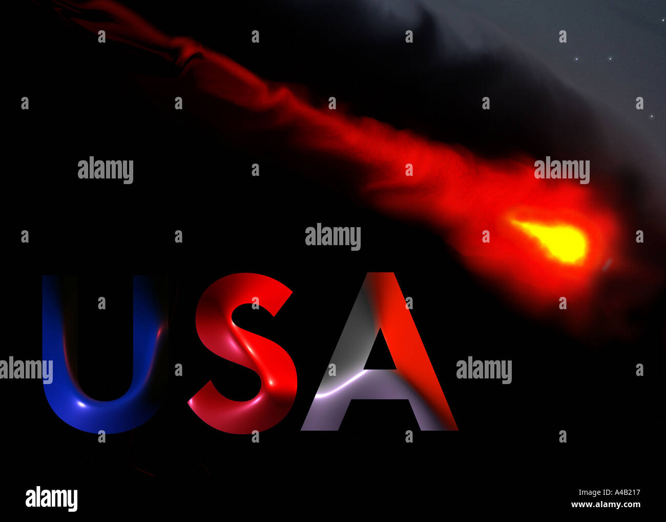 USA and terrorism - Stock Image