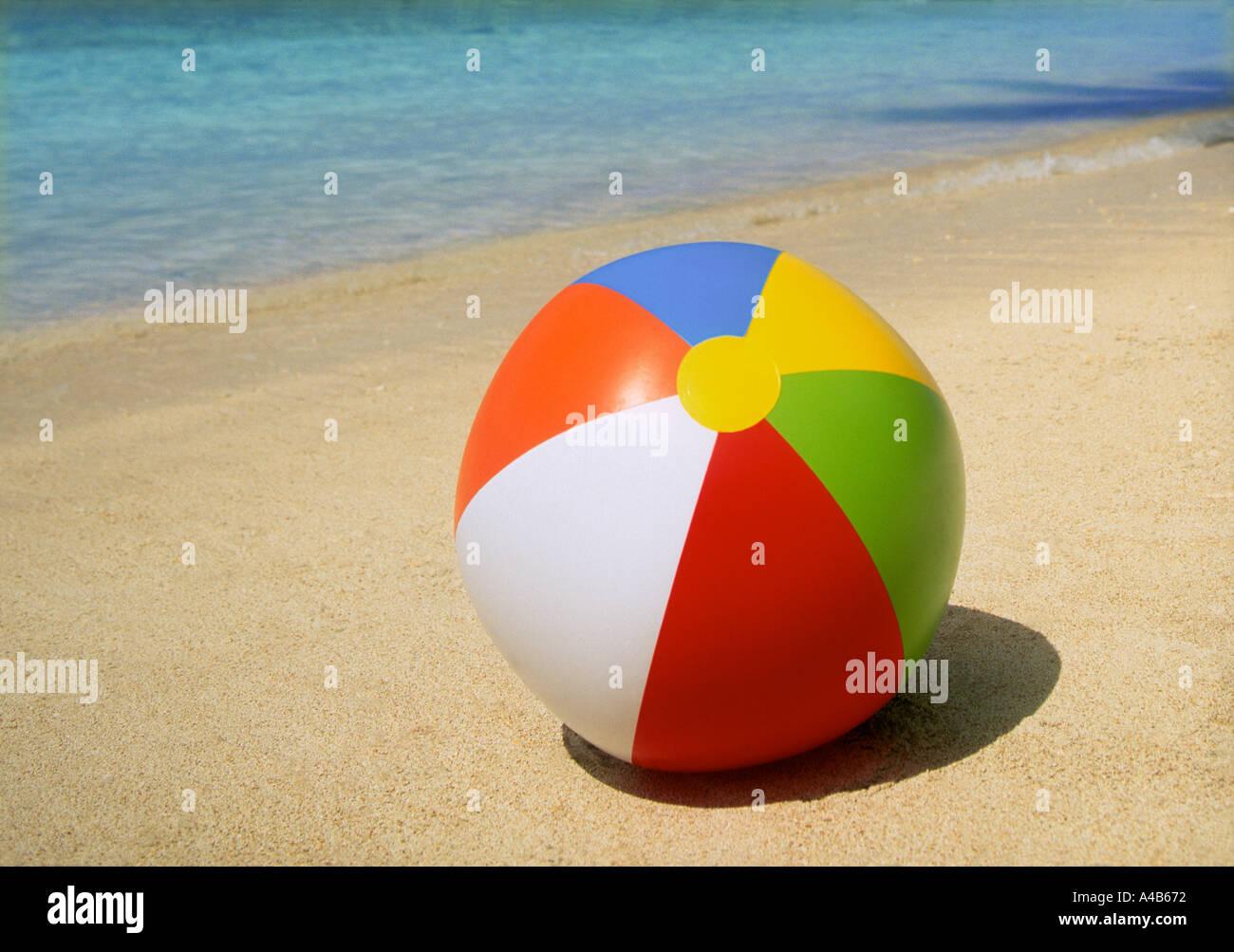 Beach ball in sand Toy Beach Ball On Tropical Beach Maldives Indian Ocean Stock Image People Inflatable Beach Ball On Sand Stock Photos Inflatable Beach Ball