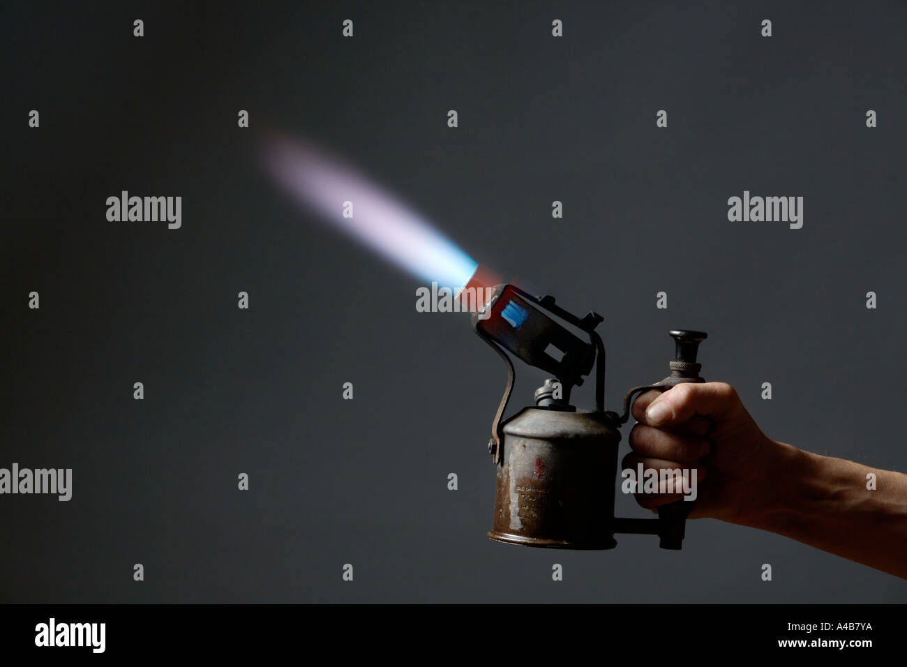 Old blow-lamp 3 - Stock Image