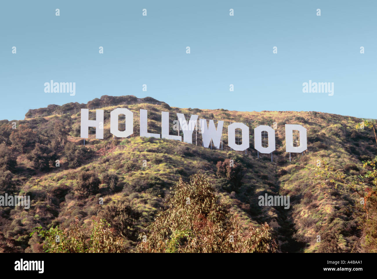 Hollywood Sign Los Angeles - Stock Image