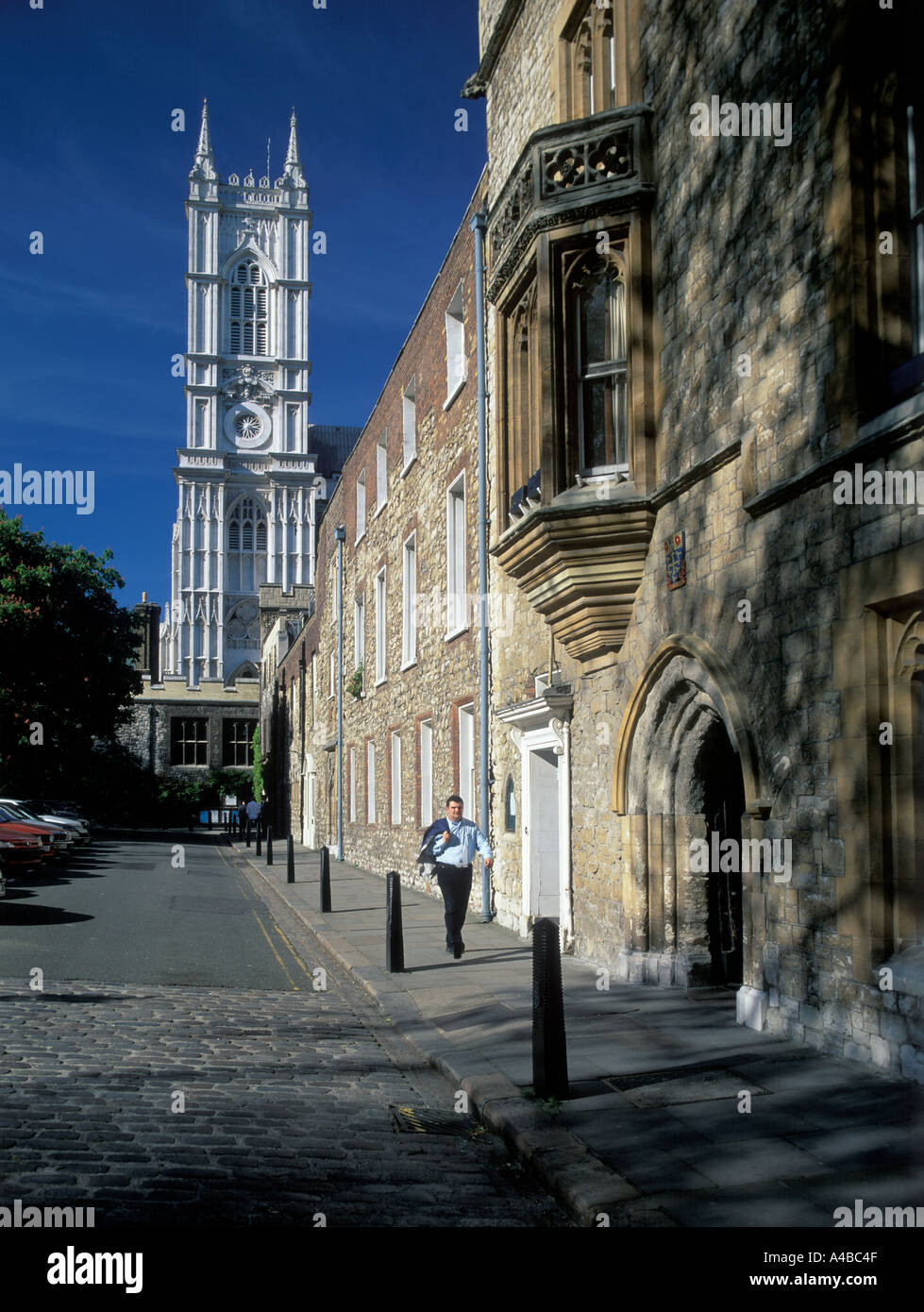 UK London Westminster Abbey from Deans Yard - Stock Image