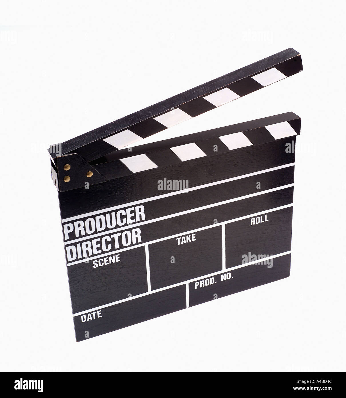 Movie production clapboard - Stock Image
