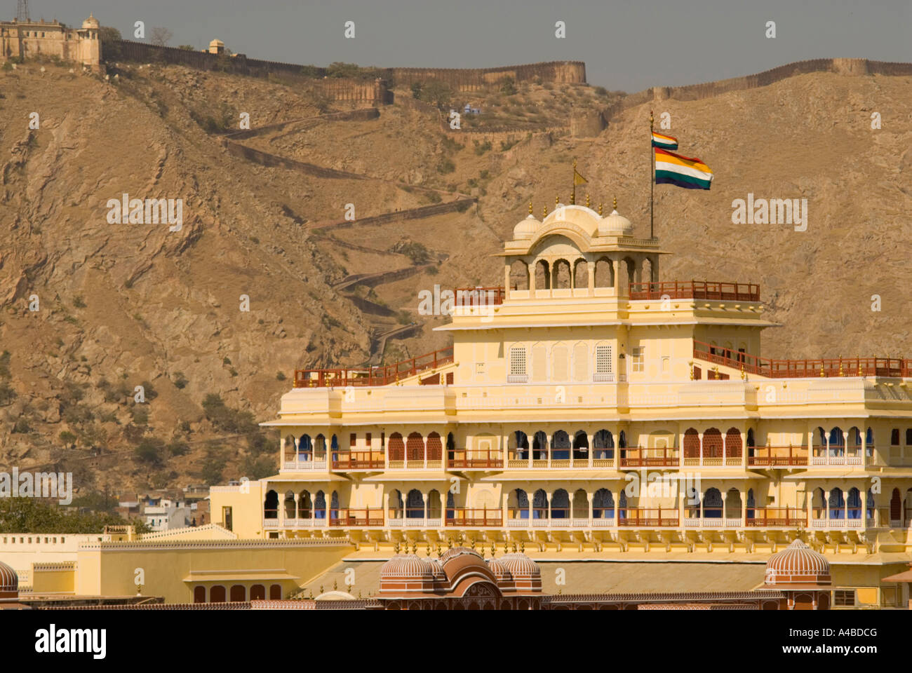 Stock image of Jaipur City Palace or Chandra Mahal or Moon Palace - Stock Image
