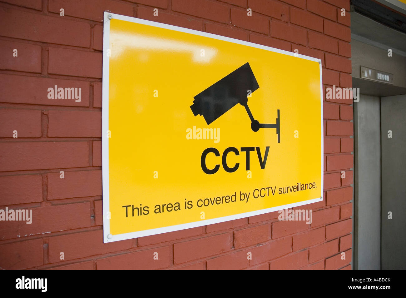 CCTV sign, London - Stock Image