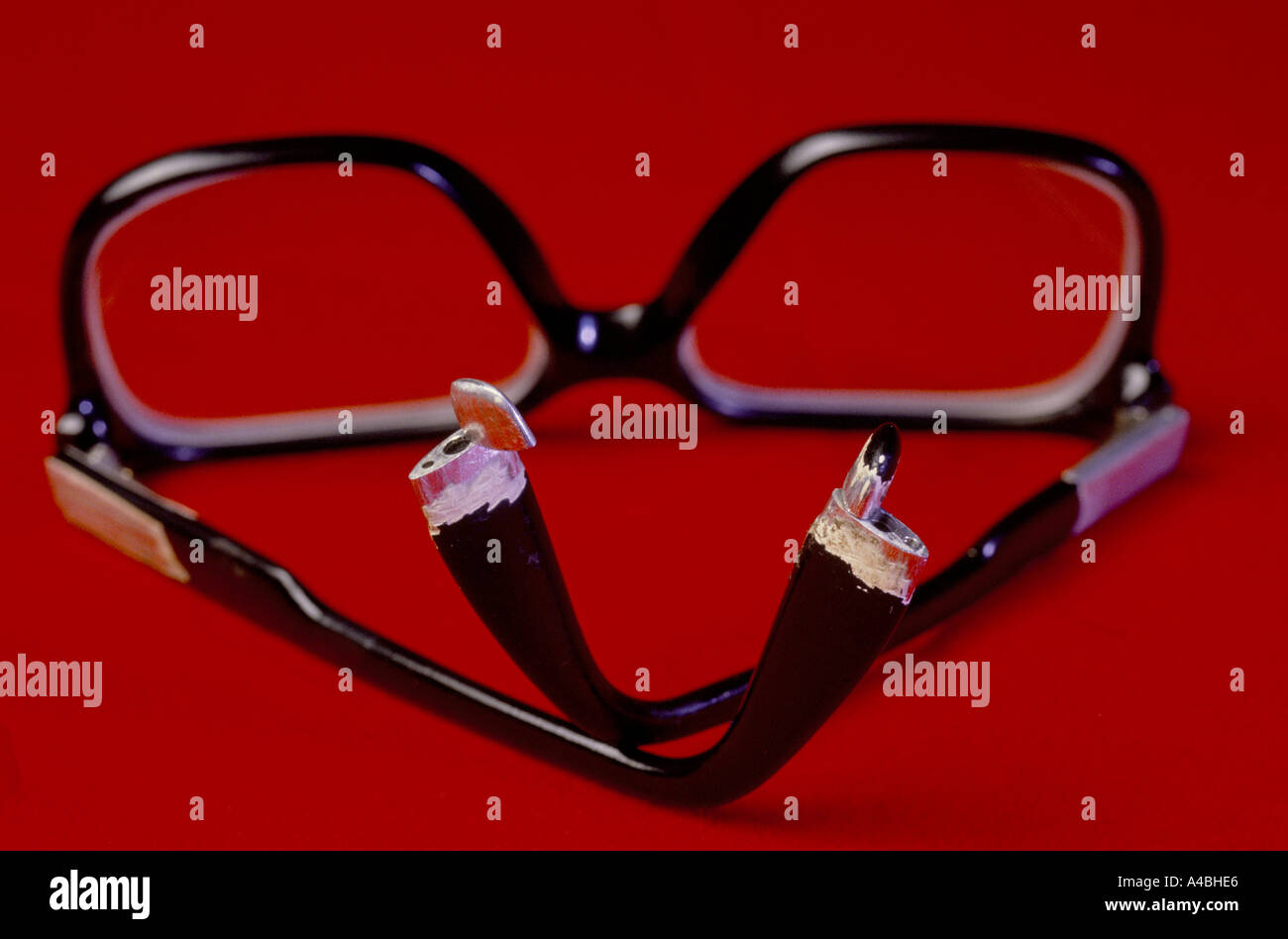 KGB Museum, Moscow Russia, USSR 1990 suicide glasses, captured American spying equipment - Stock Image