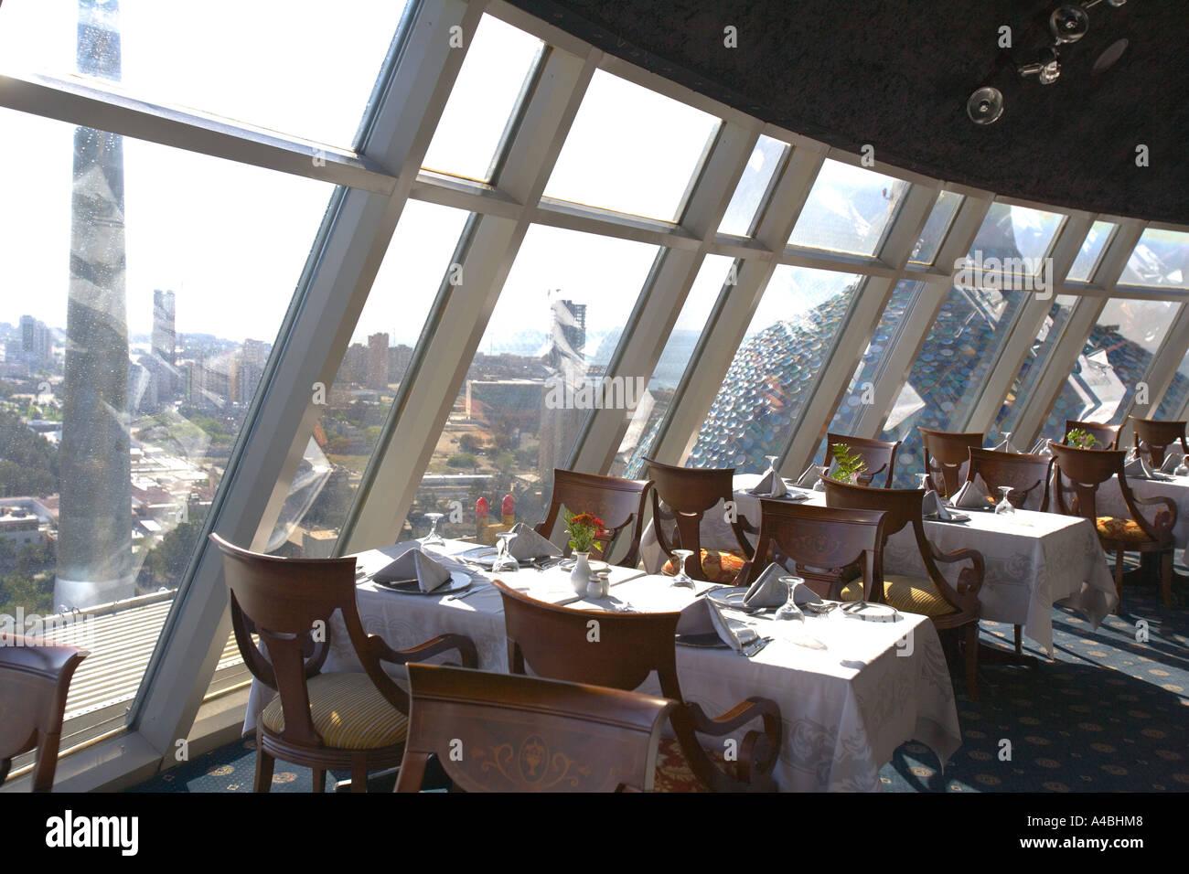 Kuwait - Kuwaiti Towers main restaurant with views over the City Stock Photo