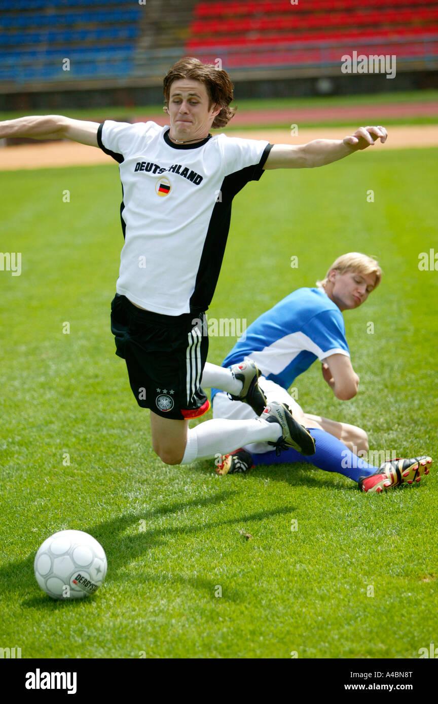 Fussballspieler, football player - Stock Image