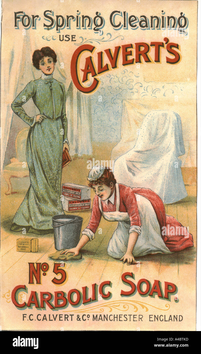 Advertisement for Carbolic soap circa 1910 - Stock Image
