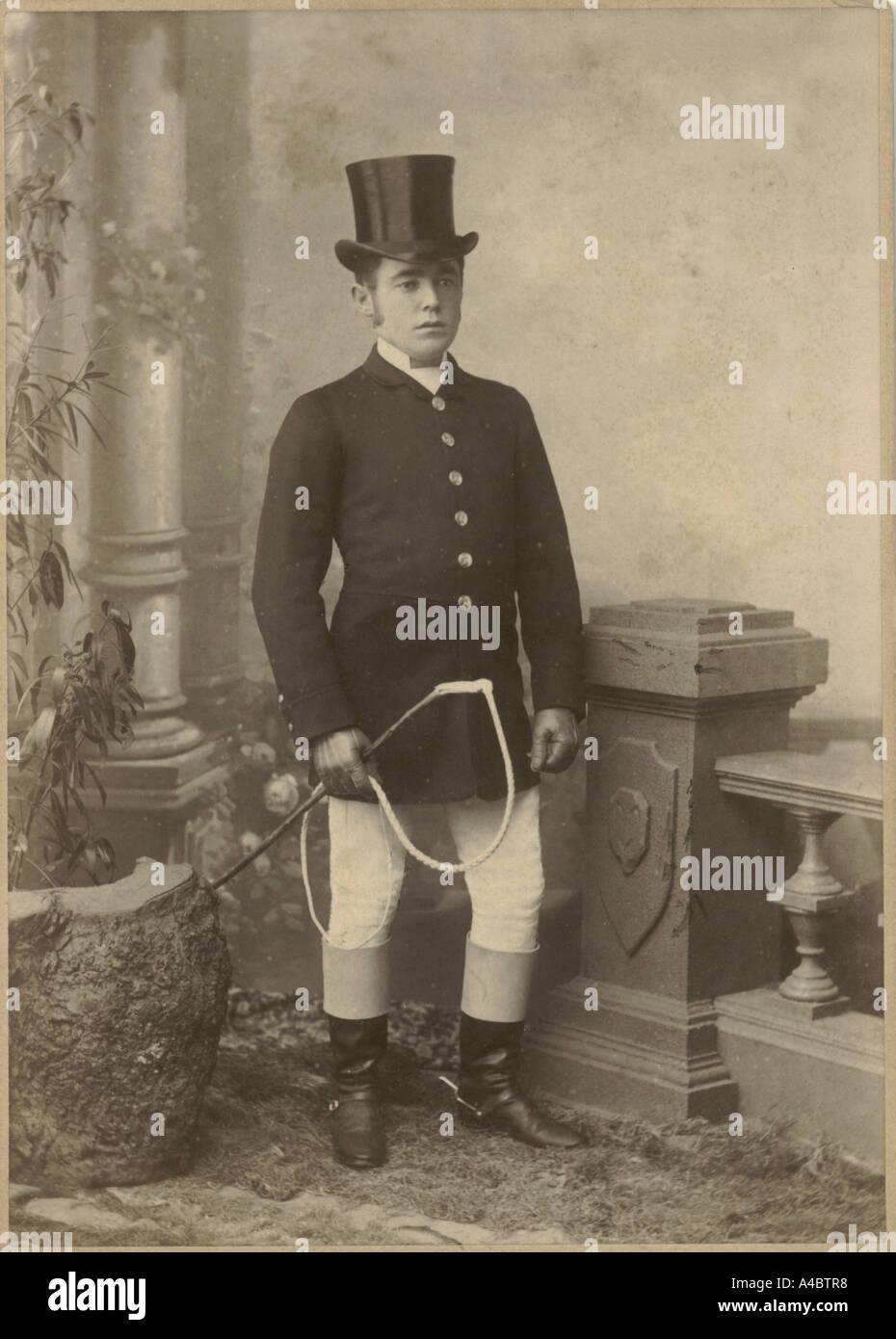 Coachman, circa 1890, cabinet photograph - Stock Image