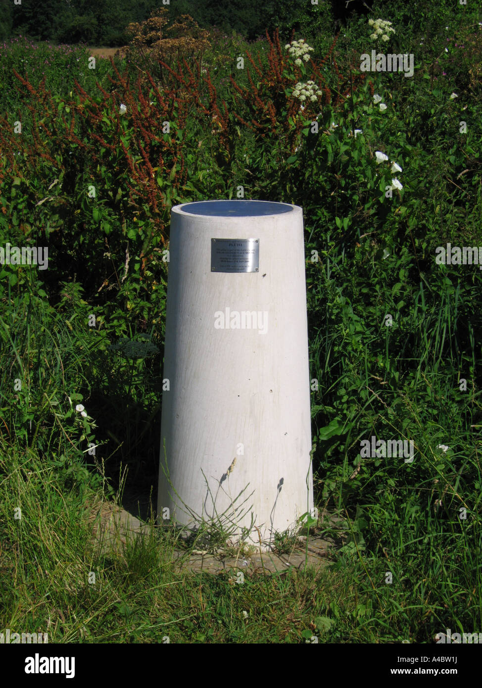 Solar System Scale Model Pillar marking position of planet