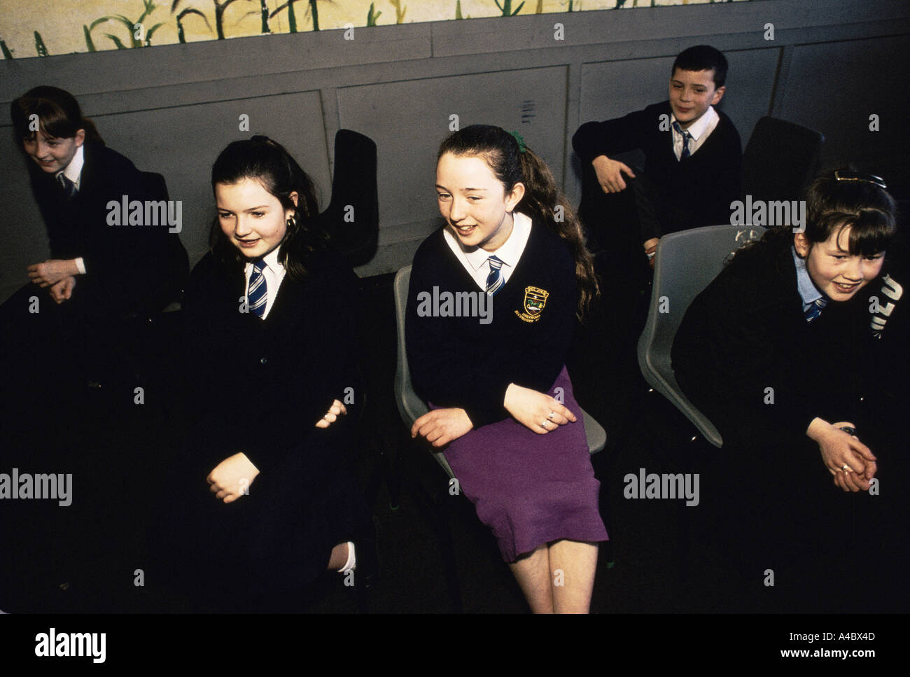HOLYROOD SECONDARY SCHOOL CHILDREN DURING DRAMA CLASS, GLASGOW, - Stock Image