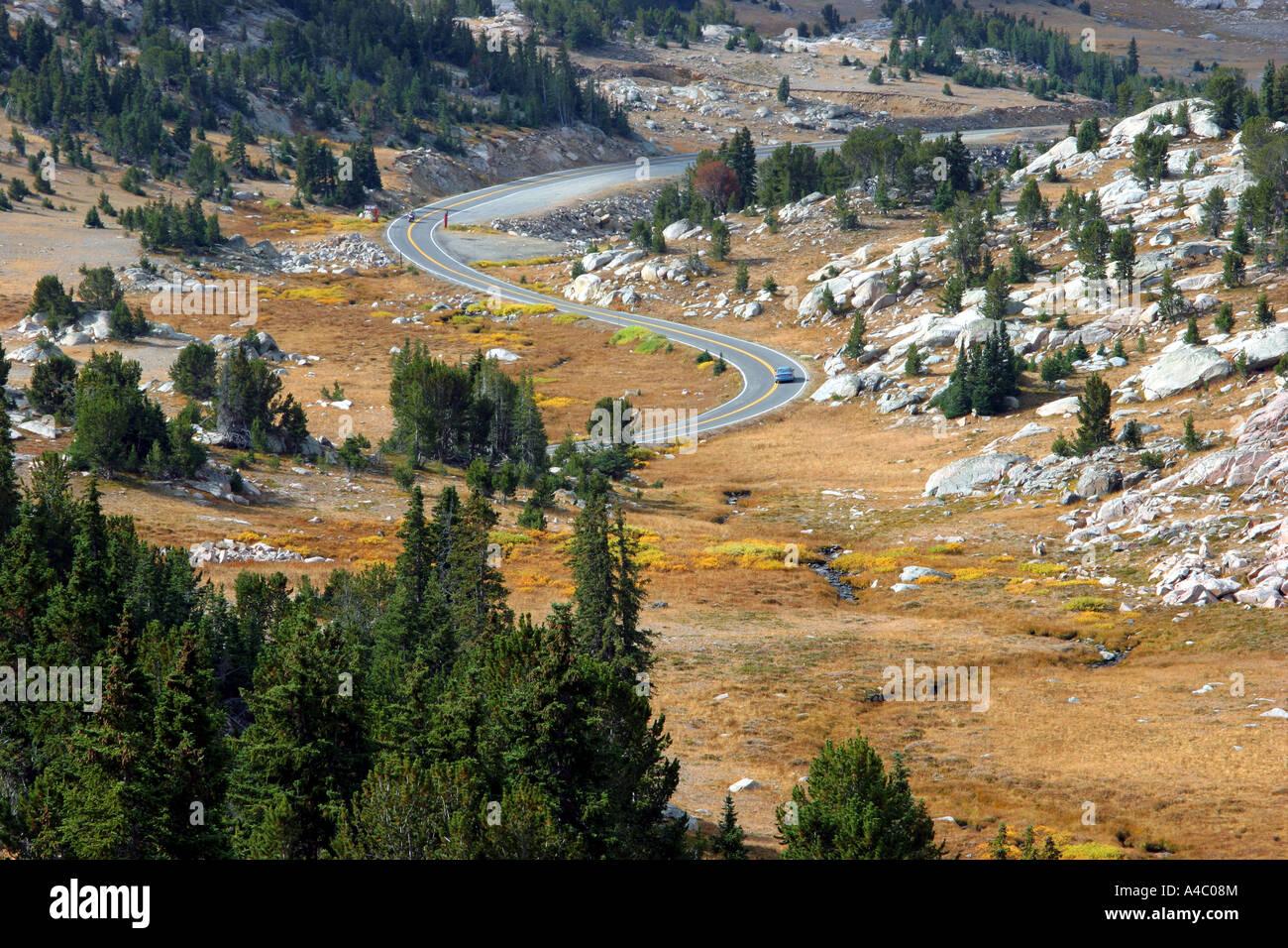 beartooth highway, montana, wyoming Stock Photo