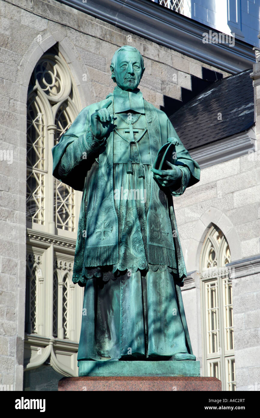 Statue of Joseph Eugene Guigues first Bishop of Ottawa 1848-1874 - Stock Image