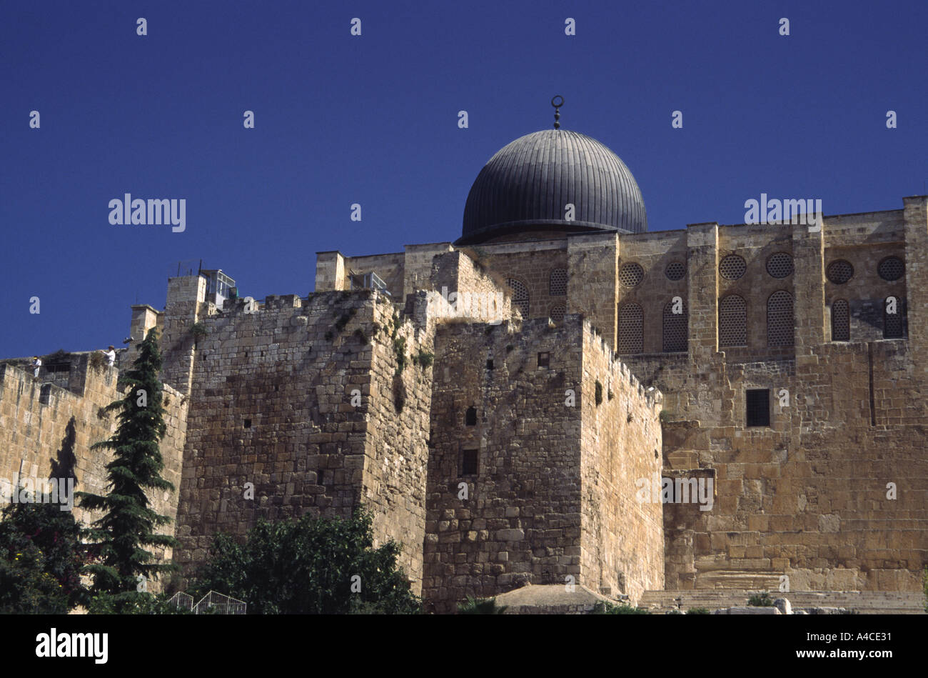 Israel Jerusalem king Solomon's Temple South Wall Stock Photo