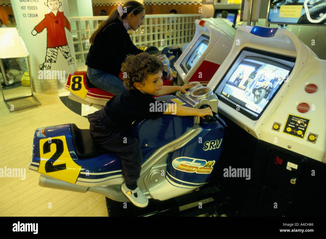 the sega games floor at hamleys toy shop in london 8 93 virtual reality racing games - Stock Image