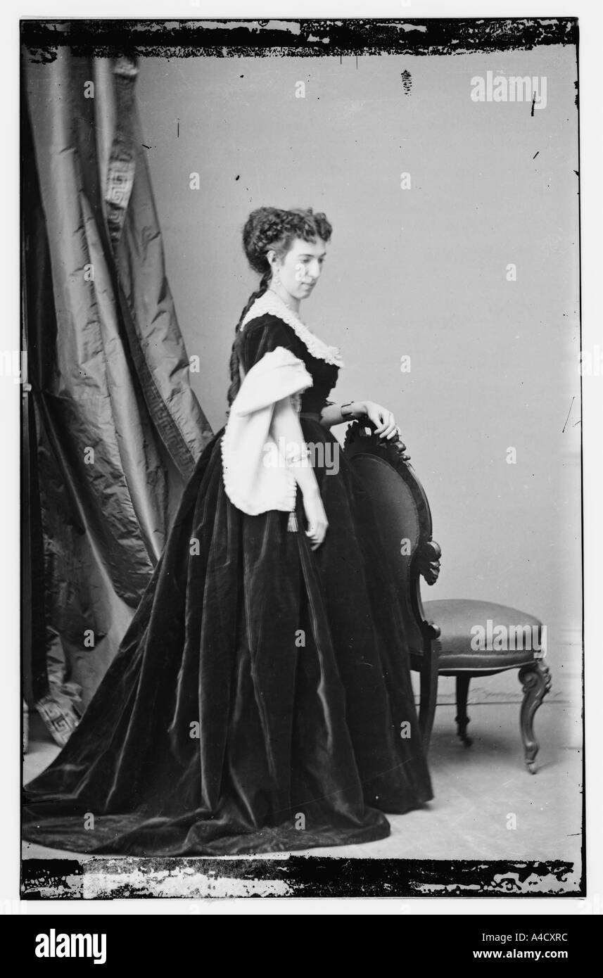 Famous Confederate spy, portrait of Belle Boyd - Stock Image